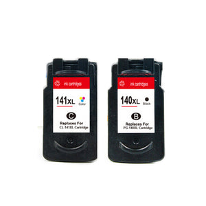2 x Remanufactured Ink Cartridges For Canon PG-140 XL / CL 141 XL