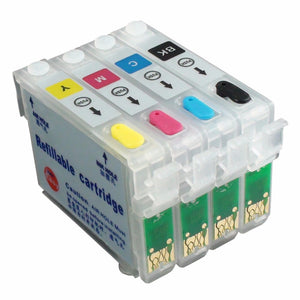 Refillable Ink Cartridge for EPSON T0731 (Black), T0732 (Cyan), T0733 (Magenta), T0734 (Yellow)