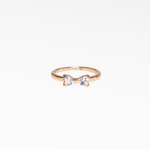 Heart Diamond Bow Ring