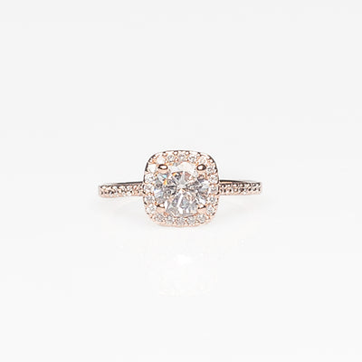 Statement Rose Gold Diamond Ring