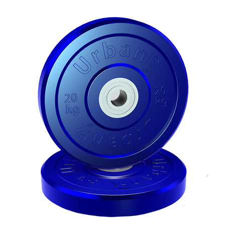 URX Olympic Rubber Elite Bumper Plate Pair (20kg)
