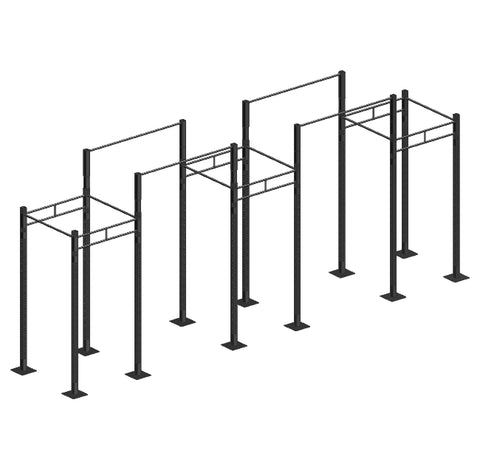 Free Standing Rig System - 3 cells with 4 overpasses