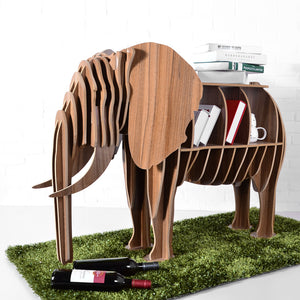 High-end DIY Wood Desk Elephant Storage Table Wooden Animal Wild Africa Elephant Creative Furniture For Art Home Decor TM006M