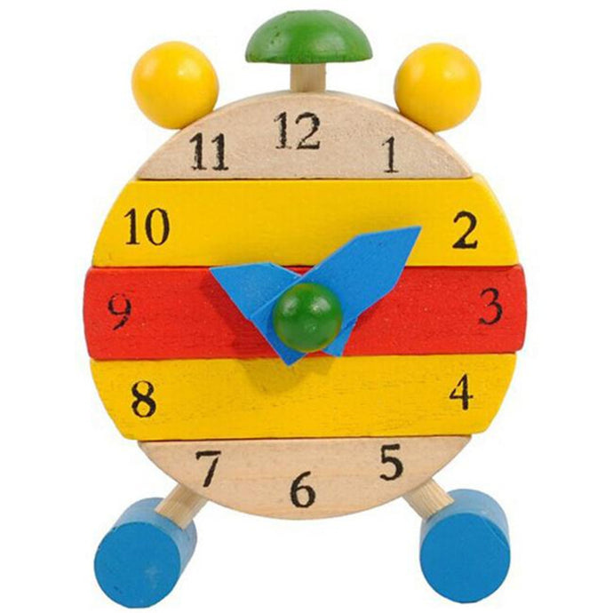 Handmade Wooden Educational Toys for Children Learning Time Clock Toys for Kids Girls Boys