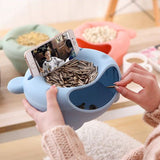 Double Dish Snacks Bowl with Mobile Phone Holder