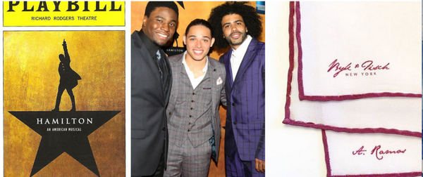 ANTHONY RAMOSPerformerHAMILTON -The Musical@Anthony_Ramos1 ​ Part of the TONY-winning musical HAMILTON, Anthony is a talented Broadway performer, wearing our custom bespoke pocketsquare.