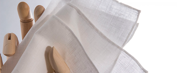 WHITE LINEN​    Our classic 100% Belgian Linen pocket square - always in style.