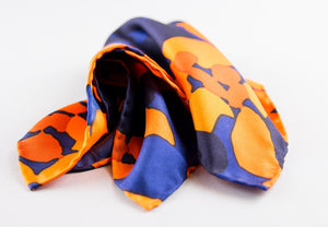 """URBAN CAMO"" SILK TWILL POCKET SQUARE"