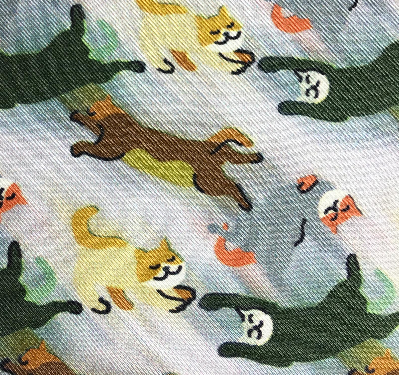 """CAMO CATS"" DIGITAL PRINT POCKET SQUARE"