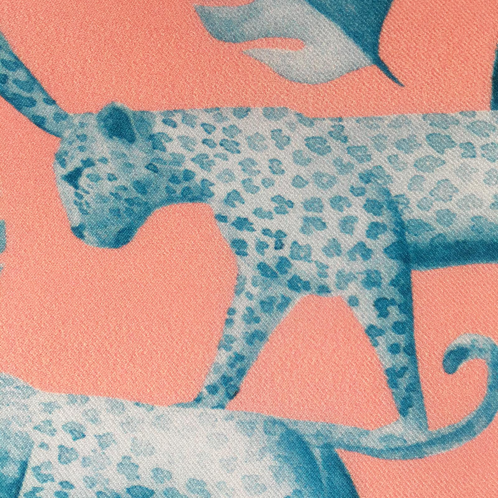 """PACING LEOPARDS"" DIGITAL PRINT POCKET SQUARE"