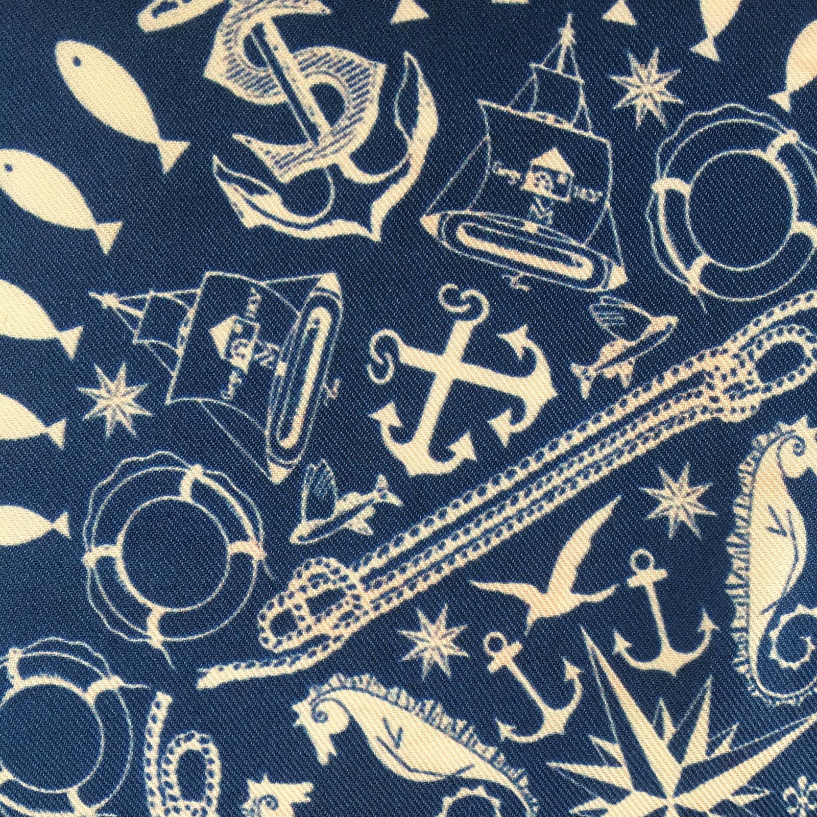 """NAUTICAL COLLAGE"" DIGITAL PRINT POCKET SQUARE"