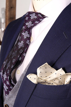 """STACKED DECK"" SILK SATIN POCKET SQUARE"
