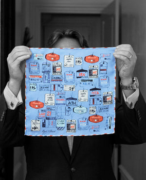 """MAKE IT COUNT"" DIGITAL PRINT POCKET SQUARE"