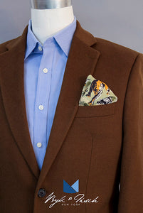 """FINDING FAWCETT"" DIGITAL PRINT POCKET SQUARE"