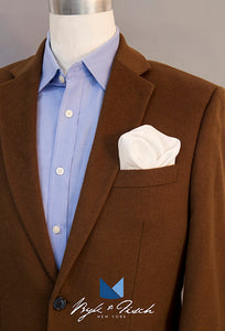 """PRESENT AND ACCOUNTED FOR"" LINEN POCKET SQUARE"