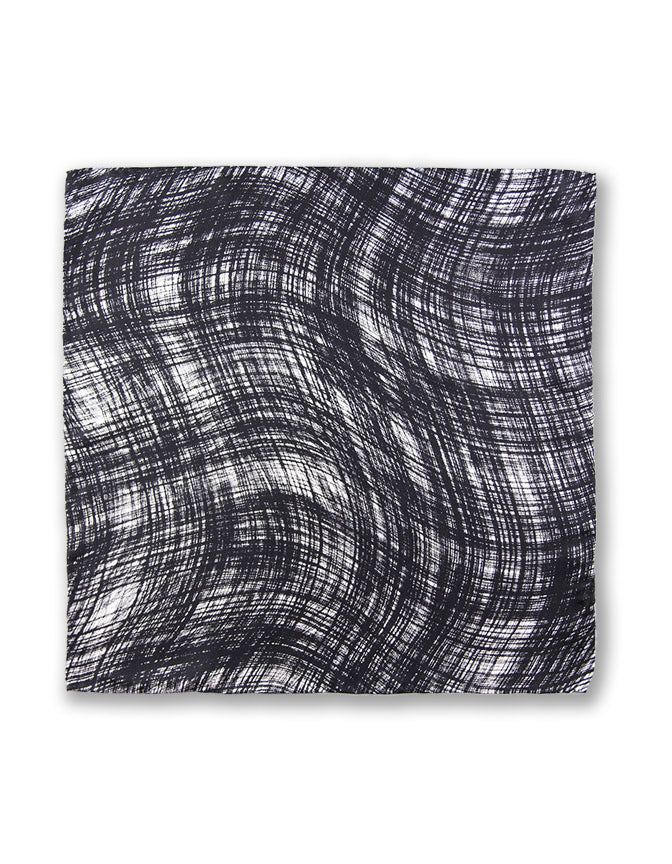 """DARK WAVES"" SILK TWILL POCKET SQUARE"