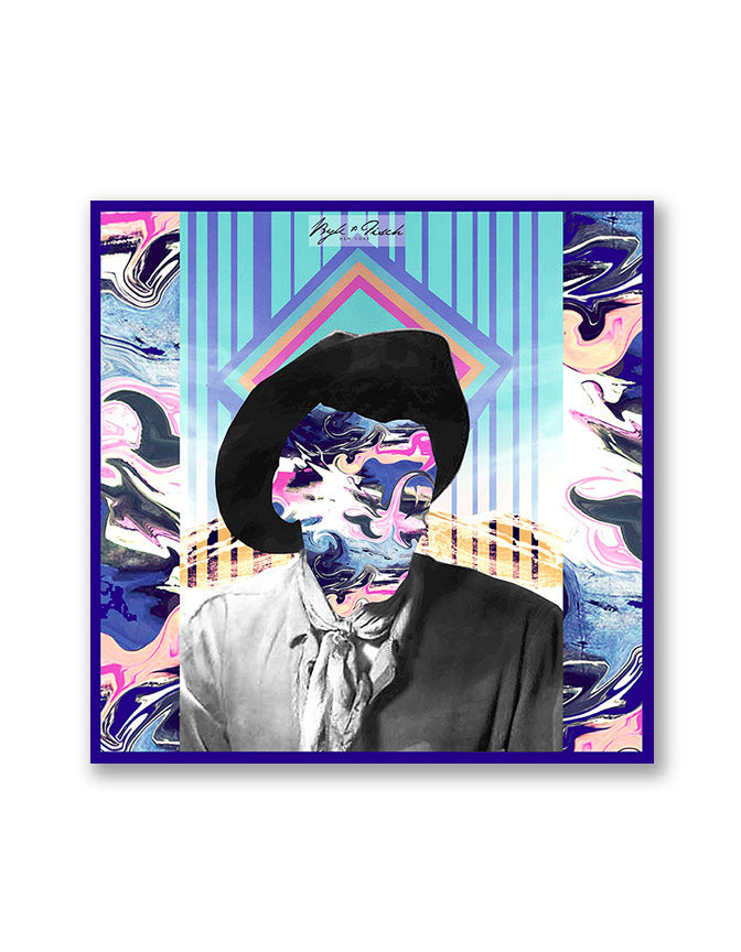 """KALEIDOSCOPE KOWBOY"" DIGITAL PRINT POCKET SQUARE"