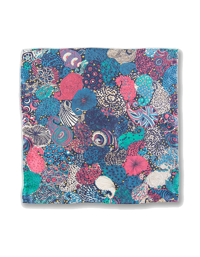 """PLATO'S BEACH"" LIBERTY POCKET SQUARE"