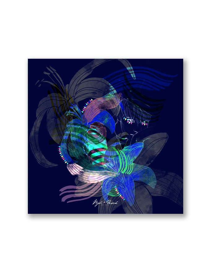 """UNDERWATER LOVE"" DIGITAL PRINT POCKET SQUARE"