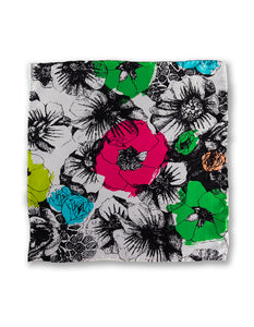 """PSYCHO FLOWER"" POCKET SQUARE"
