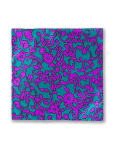 """PAISLEY PARK"" SILK TAFFETA POCKET SQUARE"