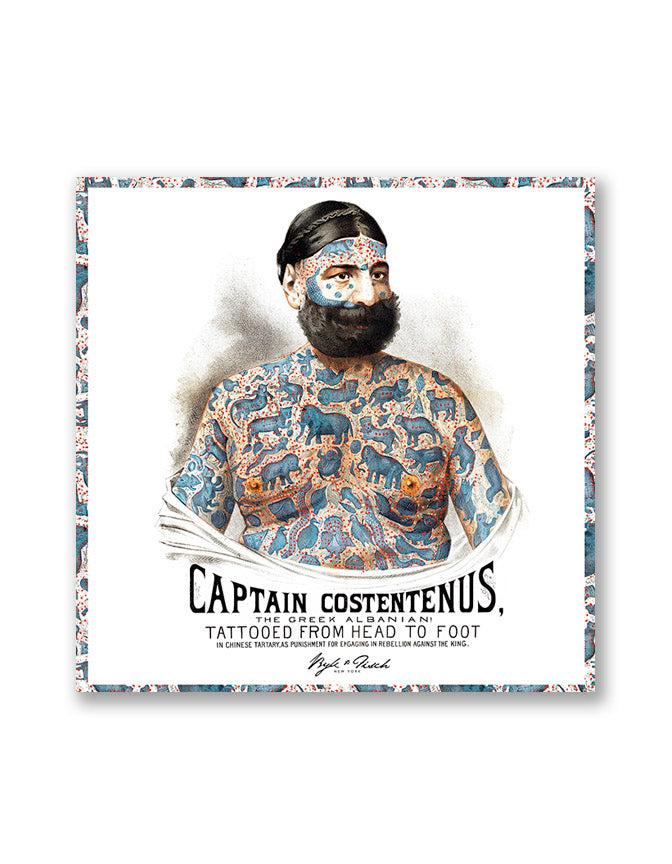 """THE CAPTAIN"" DIGITAL PRINT POCKET SQUARE"