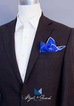 """BLUEPRINT PIZZA"" DIGITAL PRINT POCKET SQUARE"