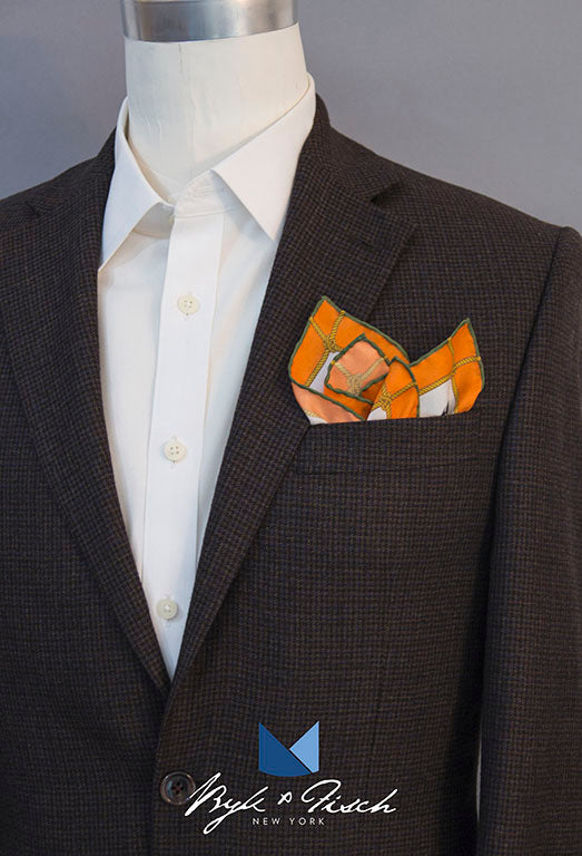 """GOLDEN GOAL"" DIGITAL PRINT POCKET SQUARE"