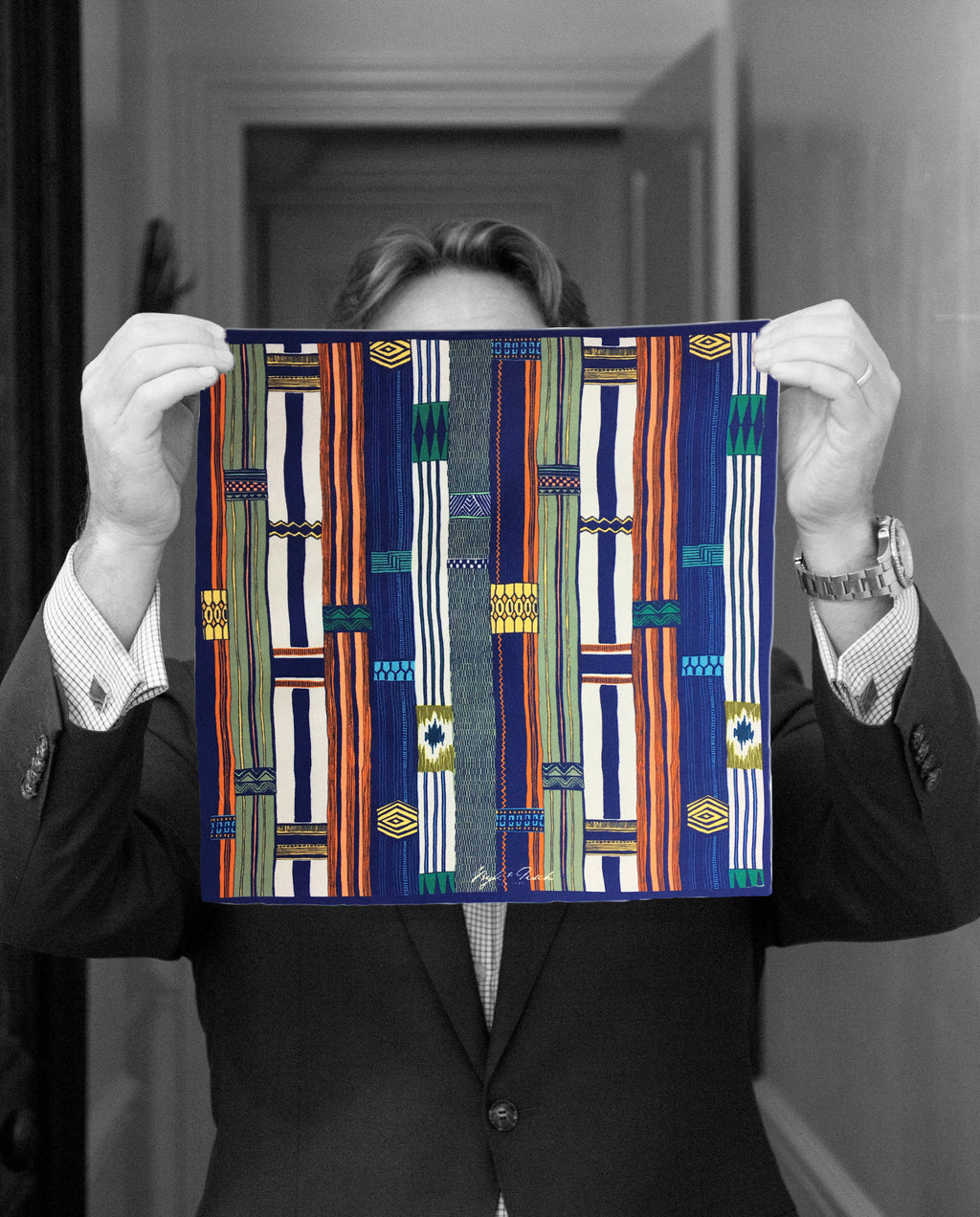 """AFRICA BATIK"" DIGITAL PRINT POCKET SQUARE"