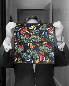 """BUTTERFLIES"" DIGITAL PRINT POCKET SQUARE"