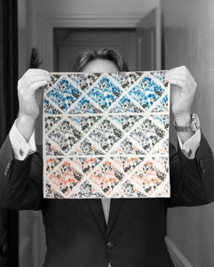 """DIAMOND FLORALS"" DIGITAL PRINT POCKET SQUARE"