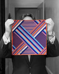 """STRIPED GEO"" DIGITAL PRINT POCKET SQUARE"