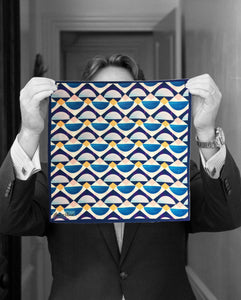 """GEO SUNSET"" DIGITAL PRINT POCKET SQUARE"