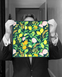 """ITALIAN VOYAGE"" DIGITAL PRINT POCKET SQUARE"
