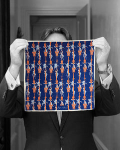 """MONKEY SEE"" DIGITAL PRINT POCKET SQUARE"