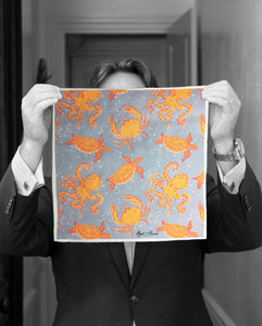 """OCTOPUS GARDEN"" DIGITAL PRINT POCKET SQUARE"