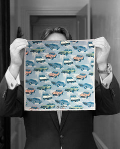 """MUSCLE CARS"" DIGITAL PRINT POCKET SQUARE"