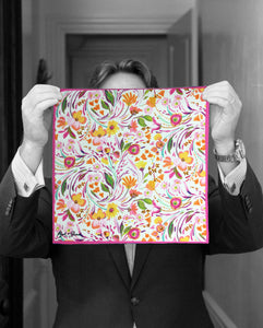 """SPRING FLOWERS"" DIGITAL PRINT POCKET SQUARE"