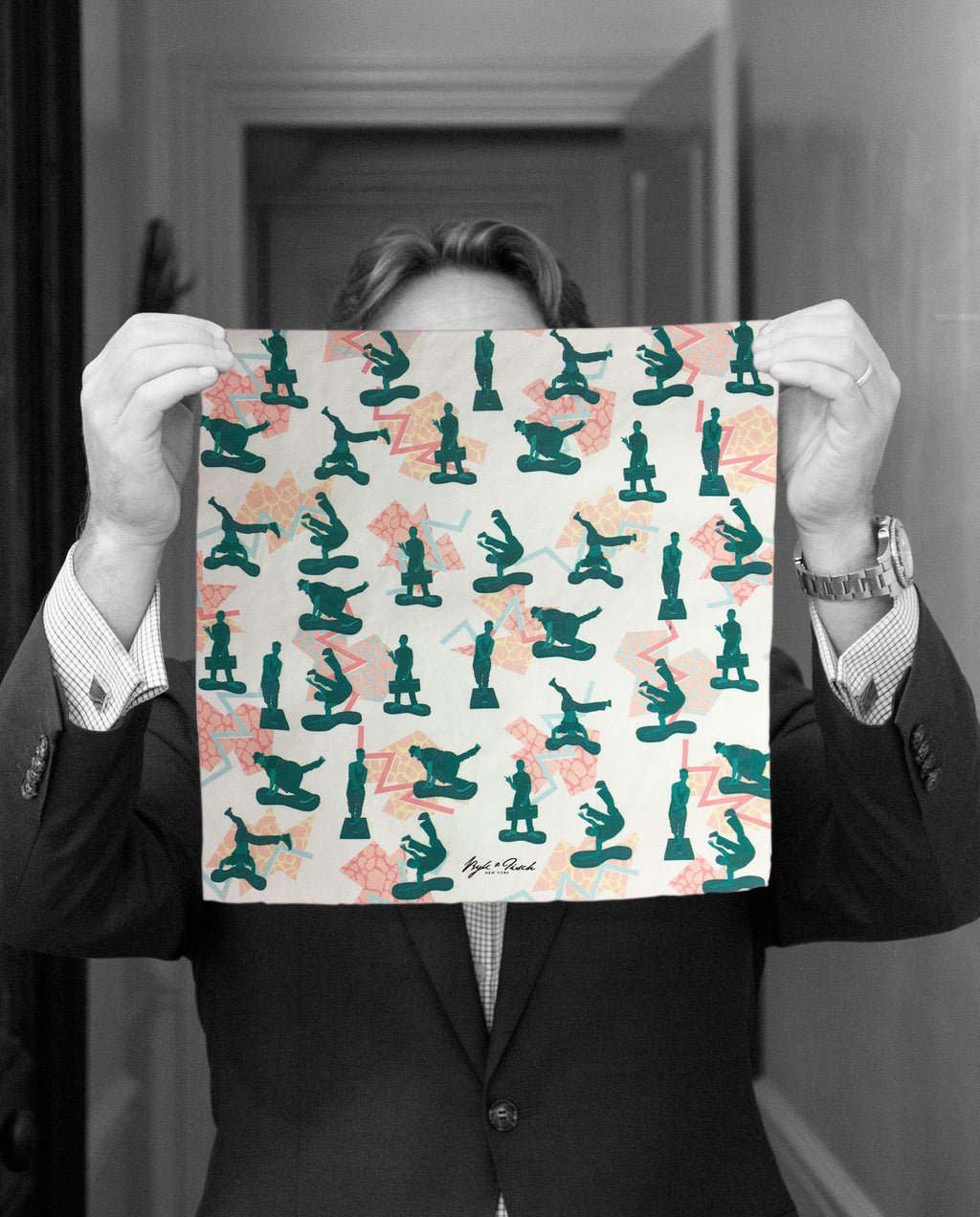 """TOYBOARDERS"" DIGITAL PRINT POCKET SQUARE"