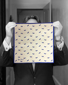 """HAPPY DOG"" DIGITAL PRINT POCKET SQUARE"