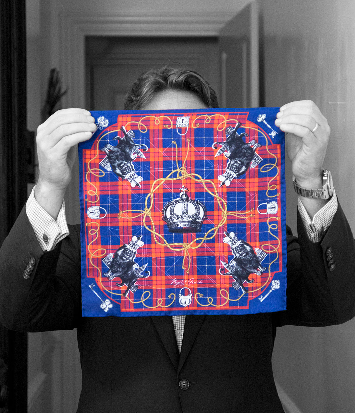 """HIS ROYAL LIONESS"" DIGITAL PRINT POCKET SQUARE"