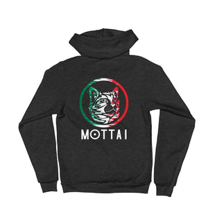 MOTTAI Surf Maurice Unisex Fleece Zip Hoodie MEXICO colors