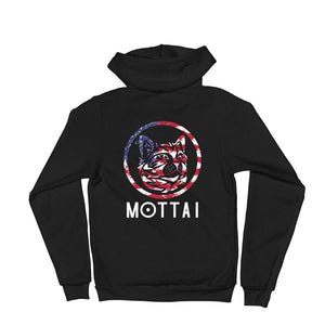 MOTTAI Surf Maurice Unisex Fleece Zip Hoodie USA colors