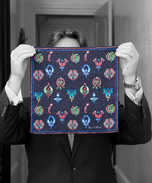 """PAINTER PAISLEY"" DIGITAL PRINT POCKET SQUARE"
