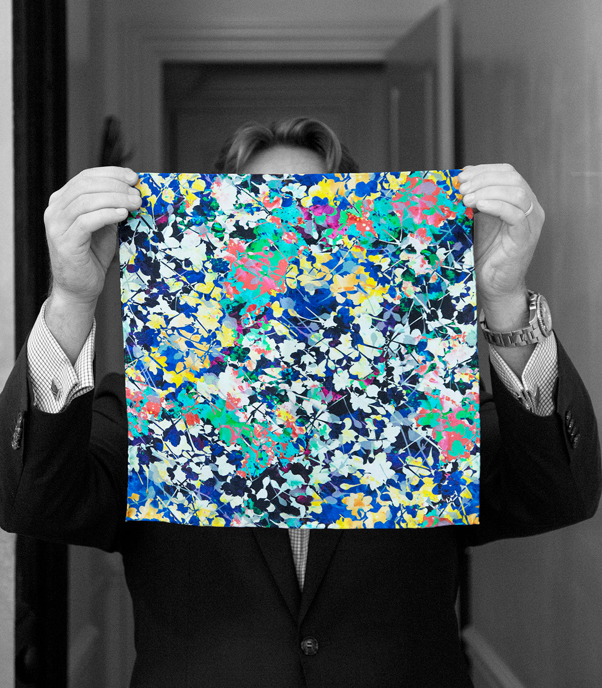 """THE JACKSON"" SILK SATIN POCKET SQUARE"