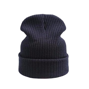 black beanie hat for skiing or casual wear