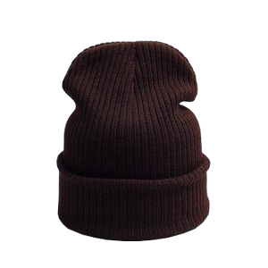 brown beanie hat for skiing or everyday