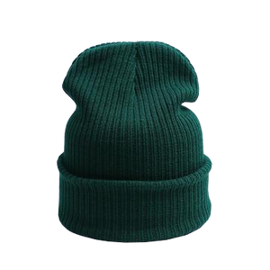 dark green beanie hat for casual days