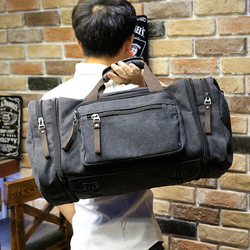 Canvas Travel Bag Black - Aces23