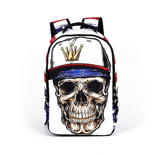 RUNNINGTIGER Backpack Skull - Aces23